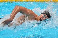 July 28, 2012: Ryan Lochte competes in Men's 400m Individual Medley final event at the Aquatics Center on day one of 2012 Olympic Games in London, United Kingdom.
