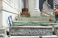 New Haven Courthouse GA 23 Phase 1. Project No: BI-JD-299<br /> Architect: JCJ Architecture  Contractor: Kronenberger Restoration<br /> James R Anderson Photography New Haven CT photog.com<br /> Date of Photograph: 21 April 2014<br /> Camera View: East, South Elevation Steps, West Corner  No.: 20
