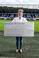 Friday 11 April 2014<br /> Pictured: Jade Lewis of Gendros Judo Club<br /> Re: Swansaid Cheque Presentation at the Liberty Stadium, Swansea Wales