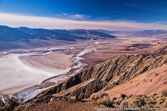 With its sweeping hundred mile vista encompassing the main park, Dante's View is one of the must-see stops for visitors to Death Valley National Park in eastern California.