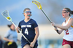 Santa Barbara, CA 02/18/12 - Shelly Smith (BYU #4) an dShelby Griffin (Arizona State #2) in action during the Arizona State vs BYU matchup at the 2012 Santa Barbara Shootout.  BYU defeated Arizona State 10-8.