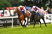 Winner of The Molson Coors Handicap (Class 6) Glamorous Dream ridden by David Probert and trained by Ronald Harris during Afternoon Racing at Salisbury Racecourse on 12th June 2018