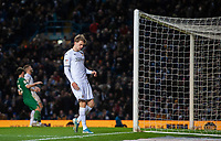 Leeds United's Patrick Bamford reacts after missing a chance in the second half<br /> <br /> Photographer Chris Vaughan/CameraSport<br /> <br /> The EFL Sky Bet Championship - Leeds United v Sheffield Wednesday - Saturday 11th January 2020 - Elland Road - Leeds<br /> <br /> World Copyright © 2020 CameraSport. All rights reserved. 43 Linden Ave. Countesthorpe. Leicester. England. LE8 5PG - Tel: +44 (0) 116 277 4147 - admin@camerasport.com - www.camerasport.com
