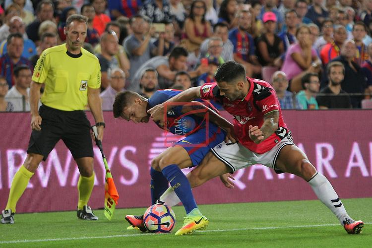 League Santander 2016/2017. Game: 3.<br /> FC Barcelona vs Deportivo Alaves: 1-2.<br /> Denis Suarez vs Edgar.