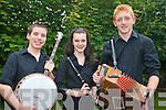 Musicians from Ballydonoghue practising for the music competitions at the Munster Fleadh Cheoil in Kenmare this weekend. .L-R Killian O'Carroll, Moira O'Connell and Kevin O'Neill