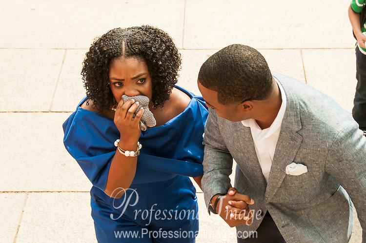 Van & Cort's Proposal at The Lincoln Memorial 2015 © John Drew