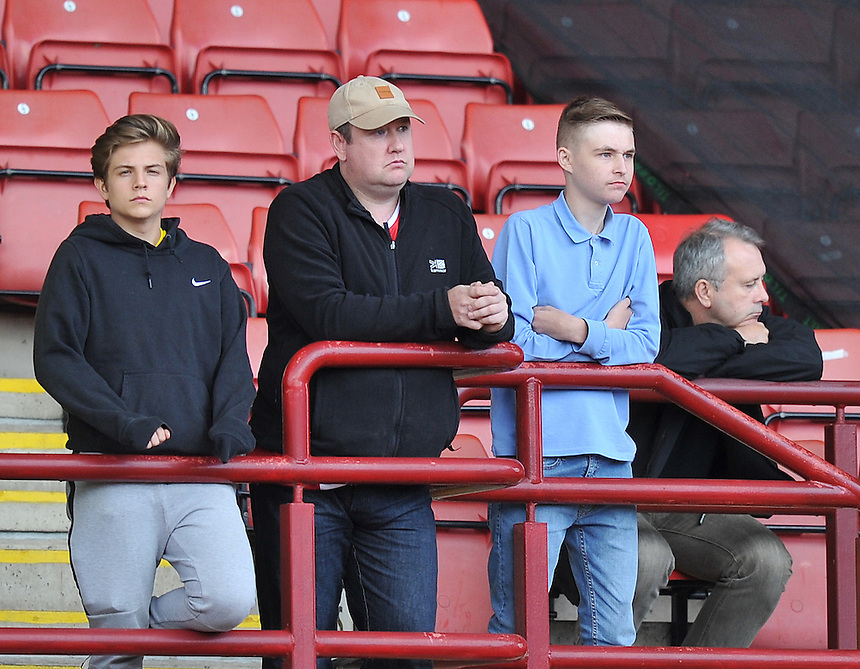 Fans<br /> <br /> Photographer Dave Howarth/CameraSport<br /> <br /> Football - Football Friendly - Barnsley v Middlesbrough - Wednesday 29th July 2015 - Oakwell - Barnsley<br /> <br /> &copy; CameraSport - 43 Linden Ave. Countesthorpe. Leicester. England. LE8 5PG - Tel: +44 (0) 116 277 4147 - admin@camerasport.com - www.camerasport.com