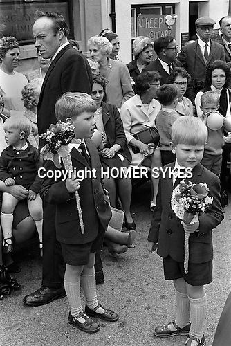 Great Torrington Devon UK. Mayfair. 1970, which is believed to have been going on since 1554. It takes place on the first Thursday in May. 1970