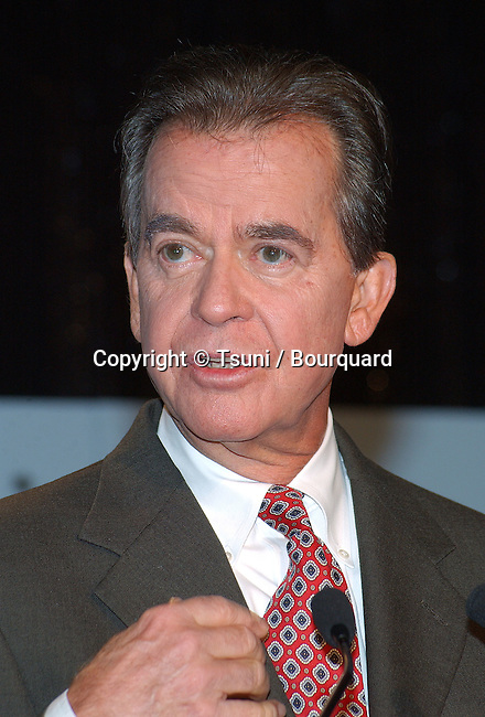 Dick Clark was presenting the 2002 Golden Globe Nominations at the Beverly Hilton Hotel in Los Angeles. December 20, 2001. ClarkDick08.jpg