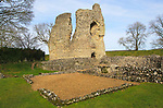 Ruined buildings of historic Ludgershall Castle, Wiltshire, England, UK - The Royal Apartments