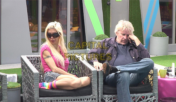 Angelique Frenchy Morgan, Gary Busey<br /> in Celebrity Big Brother - Summer 2014 (Day 14)<br /> *Editorial Use Only*<br /> CAP/NFS<br /> Image supplied by Capital Pictures