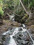 A Waterfall In The Upper Peninsula Of Michigan Near Eagle Harbor, USA, Keewenaw Peninsula