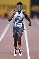 Noah Lyles of United States competes to win in the men's 100m at the IAAF Diamond League Golden Gala <br /> Roma 06-06-2019 Stadio Olimpico, <br /> Meeting Atletica Leggera <br /> Photo Andrea Staccioli / Insidefoto