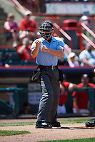 Umpire Chris Graham during a game between the Altoona Curve and Erie SeaWolves on July 10, 2016 at Jerry Uht Park in Erie, Pennsylvania.  Altoona defeated Erie 7-3.  (Mike Janes/Four Seam Images)