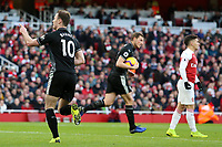 Burnley's Ashley Barnes celebrates after scoring his side's first goal to make the score 2-1<br /> <br /> Photographer David Shipman/CameraSport<br /> <br /> The Premier League - Arsenal v Burnley - Saturday 22nd December 2018 - The Emirates - London<br /> <br /> World Copyright © 2018 CameraSport. All rights reserved. 43 Linden Ave. Countesthorpe. Leicester. England. LE8 5PG - Tel: +44 (0) 116 277 4147 - admin@camerasport.com - www.camerasport.com