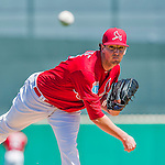 6 March 2016: St. Louis Cardinals pitcher Deck McGuire on the mound during a Spring Training pre-season game against the Washington Nationals at Roger Dean Stadium in Jupiter, Florida. The Nationals defeated the Cardinals 5-2 in Grapefruit League play. Mandatory Credit: Ed Wolfstein Photo *** RAW (NEF) Image File Available ***