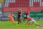 Fussball - 3.Bundesliga - Saison 2019/20<br /> Kaiserslautern -  Fritz-Walter-Stadion 20.6.2020<br /> 1. FC Kaiserslautern (fck) - KFC Uerdingen (uer)<br /> 2:0 durch Florian PICK (1. FC Kaiserslautern)<br /> <br /> Foto © PIX-Sportfotos *** Foto ist honorarpflichtig! *** Auf Anfrage in hoeherer Qualitaet/Aufloesung. Belegexemplar erbeten. Veroeffentlichung ausschliesslich fuer journalistisch-publizistische Zwecke. For editorial use only. DFL regulations prohibit any use of photographs as image sequences and/or quasi-video.