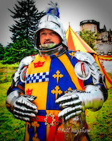 Castle Fraser is the scene of annual re-enactments of jousting tournaments. This is taken very seriously indeed by the participants who ensure their equipment is authentic. <br /> Copyright Bill Bagshaw photographers, www.dsider.co.uk whats on Castle Fraser guide