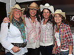 Sinead Zucchini, Mandy Farell, Jenny Callan and Jennifer McMahon pictured at the barn dance at Oberstown farm. Photo:Colin Bell/pressphotos.ie