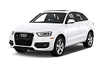2015 Audi Q3 Premium Plus 5 Door SUV angular front stock photos of front three quarter view