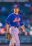 21 April 2013: New York Mets first baseman Ike Davis looks back towards the dugout during a game against the Washington Nationals at Citi Field in Flushing, NY. The Mets shut out the visiting Nationals 2-0, taking the rubber match of their 3-game weekend series. Mandatory Credit: Ed Wolfstein Photo *** RAW (NEF) Image File Available ***