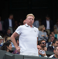 BORIS BECKER (GER)<br /> The Championships Wimbledon 2014 - The All England Lawn Tennis Club -  London - UK -  ATP - ITF - WTA-2014  - Grand Slam - Great Britain -  6th July 2014. <br /> <br /> © Tennis Photo Network
