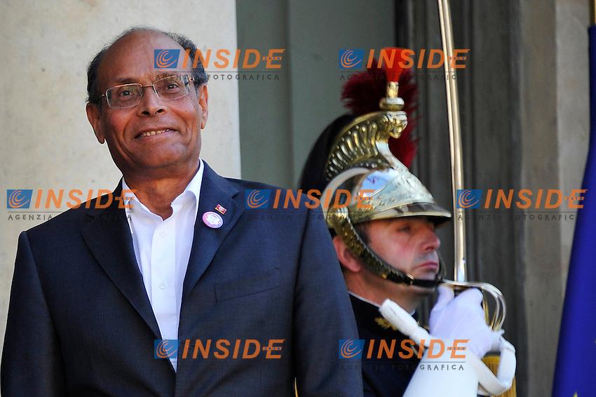 Moncef Marzouki Presidente della Repubblica di Tunisia .Foto Insidefoto / Gerard Roussel / Panoramic.ITALY ONLY.