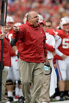 MADISON, WI - OCTOBER 22: Head coach Barry Alvarez of the Wisconsin Badgers argues with a referee against the Purdue Boilermakers at Camp Randall Stadium on October 22, 2005 in Madison, Wisconsin. The Badgers beat the Hoosiers 31-20. Photo by David Stluka.