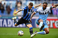 Alejandro Gomez of Atalanta and Wallace of Lazio compete for the ball <br /> Roma 5-5-2019 Stadio Olimpico Football Serie A 2018/2019 SS Lazio - Atalanta <br /> Foto Andrea Staccioli / Insidefoto