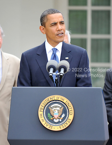 Washington, D.C. - June 22, 2009 -- United States President Barack Obama makes remarks prior to signing the Family Smoking Prevention and Tobacco Control Act in the Rose Garden of the White House on Monday, June 22, 2009.  .Credit: Ron Sachs - Pool via CNP