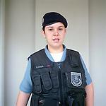 Patrol officer Liana Brum, 29<br /> Rapid Response Team<br /> Pacifying Police Unit<br /> Complexo do Caju, Rio de Janeiro, Brazil