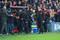 AFC Bournemouth Manager Eddie Howe is congratulated at the final whistle during AFC Bournemouth vs Arsenal, Premier League Football at the Vitality Stadium on 14th January 2018