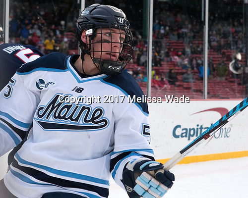 Ryan Smith (Maine - 5) - The University of Maine Black Bears defeated the University of Connecticut Huskies 4-0 at Fenway Park on Saturday, January 14, 2017, in Boston, Massachusetts.
