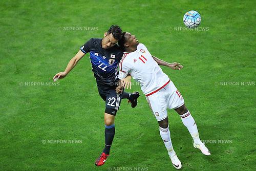 Maya Yoshida (JPN), <br /> SEPTEMBER 1, 2016 - Football / Soccer : <br /> FIFA World Cup Russia 2018 Asian Qualifier <br /> Final Round Group B <br /> between Japan - United Arab Emirates <br /> at Saitama Stadium 2002, Saitama, Japan. <br /> (Photo by YUTAKA/AFLO SPORT)