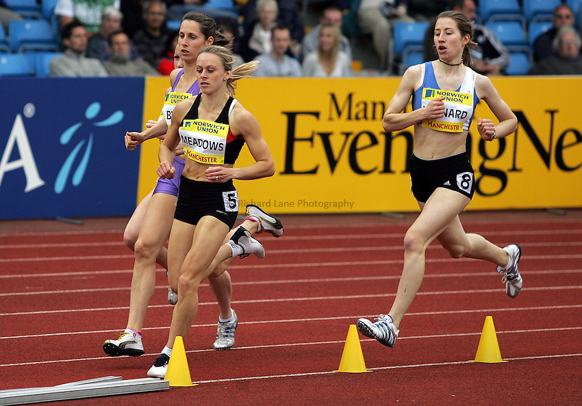 Photo: Paul Thomas/Richard Lane Photography..Norwich Union World Trials and AAA Championships. 28/07/2007...Jenny Meadows (5) during the women's 800m heats.