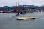 """Century 2"" An cargo ship approaching the Golden Gate Bridge San Francisco, California."