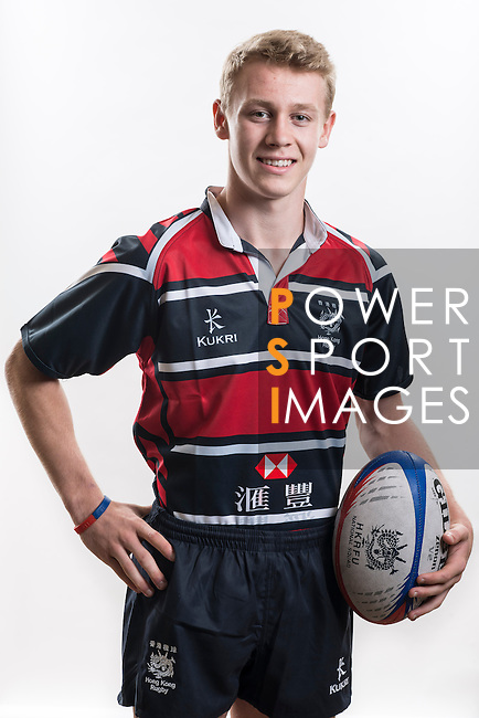 Hong Kong Junior Squad team member Matt Worley poses during the Official Photo Session Day at King's Park Sports Ground ahead the Junior World Rugby Tournament on 25 March 2014. Photo by Andy Jones / Power Sport Images