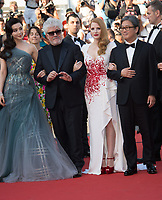 Fan Bingbing, Pedro Almodovar, Jessica Chastain &amp; Park Chan-Wook at the Closing Gala for the 70th Festival de Cannes, Cannes, France. 28 May 2017<br /> Picture: Paul Smith/Featureflash/SilverHub 0208 004 5359 sales@silverhubmedia.com