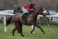Race winner Mischievous Milly ridden by Leighton Aspell in jumping action during the Betfair Supports Grassroots Racing at Fakenham Mares Novices Hurdle - Horse Racing at Fakenham Racecourse, Norfolk