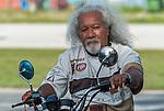 Cool biker dude in Funafuti, Tuvalu