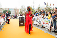 Lucrecia arrives to the Orange Carpet during Spring FesTVal 2017 in Burgos, Spain. March 30, 2017. (ALTERPHOTOS/BorjaB.Hojas)
