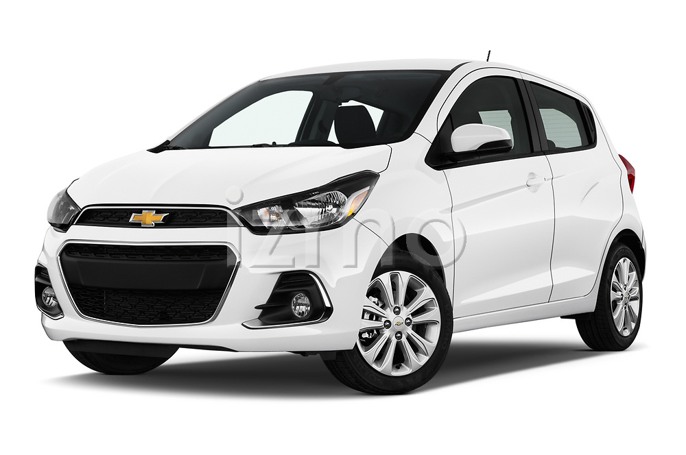 Stock pictures of low aggressive front three quarter view of 2017 Chevrolet Spark 1LT 5 Door Hatchback Low Aggressive