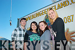 Tralee IT students who raised funds for charity by daring to do a 175ft bungee jump in the front carpark of the south campus,Clash,Tralee last Monday morning at the beginning of their RAG week were L-R Brendan Russell(Clahane)Louise Overy(Brandon)Katie Christie(Ballyheigue)and Siobhan Ardener(Killarney)..