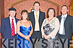 CHERNOBYL CHILDREN'S PROJECT: Supporting the Chernobyl Children's Project International at the Gala Valentine Ball in the Meadowlands hotel on Saturday l-r: Michael Healy-Rae, Mary Sugrue, Ivan Blennerhassett, Margaret Brick and George Sugure.