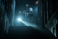 Insidious: The Last Key (2018) <br /> Lin Shaye and Angus Sampson <br /> *Filmstill - Editorial Use Only*<br /> CAP/MFS<br /> Image supplied by Capital Pictures