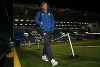 Blackburn Rovers' Dominic Samuel arriving at the stadium<br /> <br /> Photographer Andrew Kearns/CameraSport<br /> <br /> The EFL Sky Bet League One - Portsmouth v Blackburn Rovers - Tuesday 13th February 2018 - Fratton Park - Portsmouth<br /> <br /> World Copyright &copy; 2018 CameraSport. All rights reserved. 43 Linden Ave. Countesthorpe. Leicester. England. LE8 5PG - Tel: +44 (0) 116 277 4147 - admin@camerasport.com - www.camerasport.com