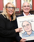 Sydney Beers and Todd Haimes attends the Todd Haimes' Sardi's Caricature Unveiling at Sardi's  on June 7, 2017 in New York City.