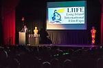 Bellmore, New York, USA. July 16, 2015. KEVIN BROWN, DOT COM on the TV series 30 ROCK, hosts the LIIFE Awards Ceremony at Bellmore Movies. It was the 18th Long Island International Film Expo.