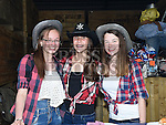 Megan Walsh, Claudia Collins and Niamh Dooley pictured at the barn dance in aid of Ballapousta National School at Oberstown Farm. Photo:Colin Bell/pressphotos.ie