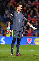 Jaime Penedo of Panama during the international friendly soccer match between Wales and Panama at Cardiff City Stadium, Cardiff, Wales, UK. Tuesday 14 November 2017.